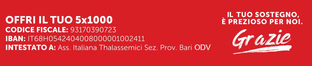 5 per mille Associazione Italiana Thalassemici sezione provinciale Bari OdV