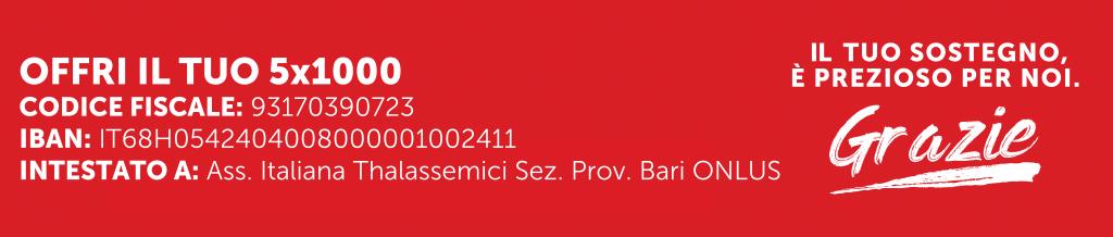 5 per mille Associazione Italiana Thalassemici - Sezione Provinciale Bari